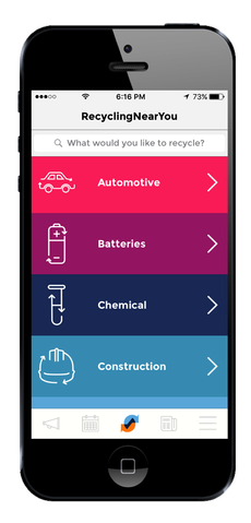 RecycleSmart materials page screenshot